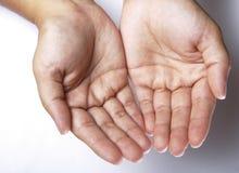 obie ręce Fotografia Royalty Free
