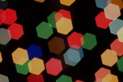 Obiektywu bokeh heksagonalny tło Obraz Royalty Free