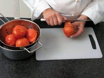obieranie pomidory Obraz Royalty Free