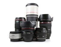 Obiettivi di Canon Immagine Stock