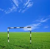 Obiettivi di gioco del calcio Fotografia Stock
