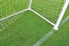 Obiettivi di gioco del calcio Immagini Stock Libere da Diritti