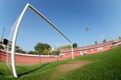 Obiettivi di gioco del calcio Fotografie Stock