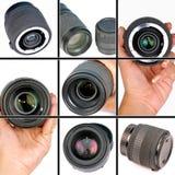 Obiettivi di macchina fotografica Immagine Stock