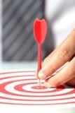 Obiettivi di successo di affari Immagini Stock