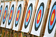 Obiettivi di tiro all'arco immagine stock libera da diritti
