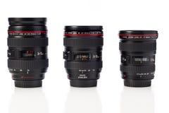 Obiettivi di zoom di Canon Immagini Stock Libere da Diritti