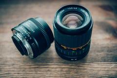 Obiettivi fotografici Fotografie Stock Libere da Diritti