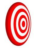 obiettivo 3D isolato su priorità bassa bianca Fotografie Stock