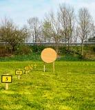 Obiettivo ad una gamma di tiro con l'arco Immagine Stock