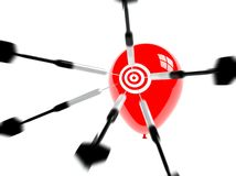 Obiettivo, aspirazione e successo di affari Fotografia Stock