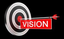 obiettivo bianco e rosso del nero dell'obiettivo della rappresentazione 3D con le frecce Fotografie Stock
