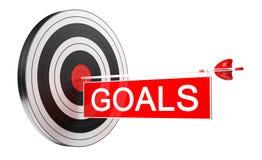 obiettivo bianco e rosso del nero dell'obiettivo della rappresentazione 3D con le frecce Immagini Stock
