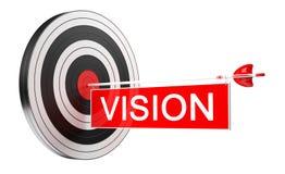 obiettivo bianco e rosso del nero dell'obiettivo della rappresentazione 3D con le frecce Fotografia Stock