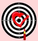 obiettivo con cuore Fotografie Stock Libere da Diritti
