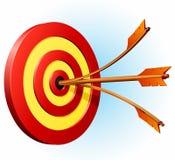 Obiettivo con due frecce Immagine Stock Libera da Diritti