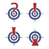 Obiettivo con i segni e le frecce Fotografia Stock Libera da Diritti
