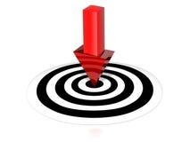 Obiettivo con la freccia Immagine Stock