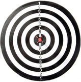 Obiettivo con la freccia fotografia stock libera da diritti