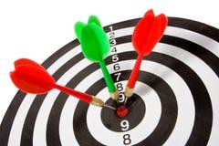 Obiettivo con la freccia Immagine Stock Libera da Diritti