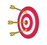 Obiettivo con le frecce Fotografia Stock Libera da Diritti