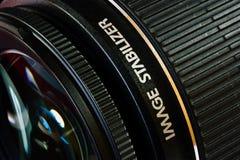 Obiettivo con lo stabilizzatore di immagine Immagini Stock