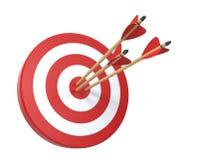Obiettivo con tre frecce Immagini Stock