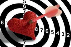 Obiettivo - cuore Fotografia Stock Libera da Diritti