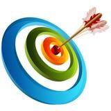 obiettivo 3d con la freccia Immagini Stock