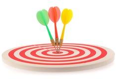 Obiettivo del dardo con le frecce Immagine Stock Libera da Diritti