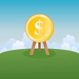Obiettivo del dollaro Immagine Stock