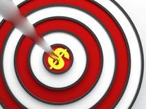 Obiettivo del dollaro Immagini Stock Libere da Diritti