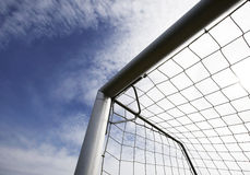 Obiettivo del foodball o di calcio Fotografie Stock Libere da Diritti