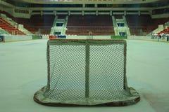 Obiettivo del hokey di ghiaccio Fotografia Stock