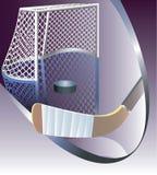 Obiettivo del hokey di ghiaccio dettagliato. Immagine Stock