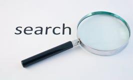 Obiettivo del Magnifier per la ricerca 2 Fotografia Stock