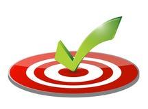 Obiettivo del segno di spunta e progettazione dell'illustrazione del dardo Fotografie Stock