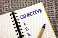 Obiettivo del testo di scrittura di parola Il concetto di affari per lo scopo ha progettato di essere raggiunto ha desiderato il  fotografia stock libera da diritti