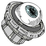 Obiettivo dell'occhio Fotografia Stock