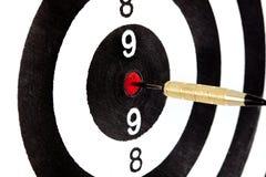 Obiettivo dell'occhio di tori con il dardo Fotografia Stock Libera da Diritti