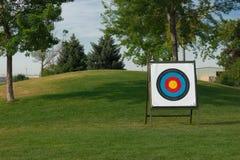 Obiettivo della concorrenza di tiro con l'arco Fotografia Stock