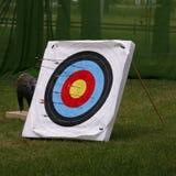 Obiettivo della fucilazione di tiro all'arco immagine stock