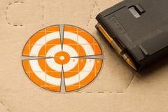 Obiettivo della fucilazione per la fucilazione del primo piano fotografia stock