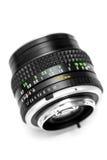 Obiettivo della macchina fotografica DSLR dell'annata su bianco Immagini Stock Libere da Diritti
