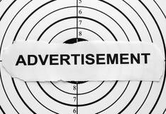 Obiettivo della pubblicità Fotografia Stock