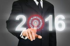 Obiettivo 2016 di affari Immagine Stock