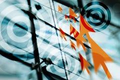 Obiettivo di affari Fotografie Stock