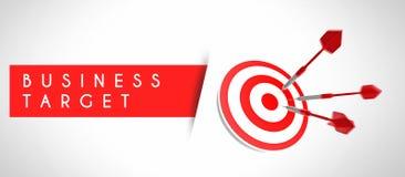 Obiettivo di affari, concetto di successo Fotografia Stock Libera da Diritti