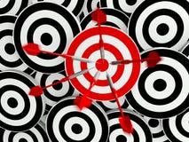 Obiettivo di affari di successo Fotografia Stock Libera da Diritti