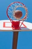 Obiettivo di Baseketball Fotografie Stock Libere da Diritti